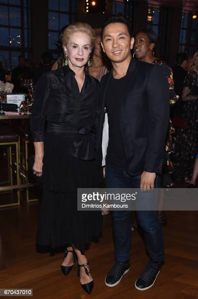 Carolina Herrera and Prabal Gurung attend Harper's BAZAAR 150th Anniversary Event presented with Tiffany Co at The Rainbow Room on April 19 2017 in...