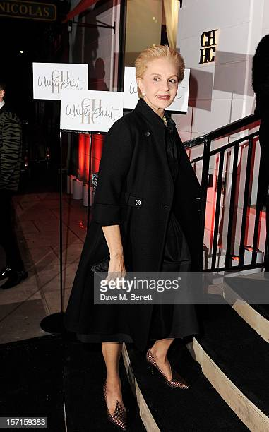 Carolina Herrera arrives at the launch of CH Carolina Herrera's White Shirt Collection at their new Fulham Road store on November 29 2012 in London...
