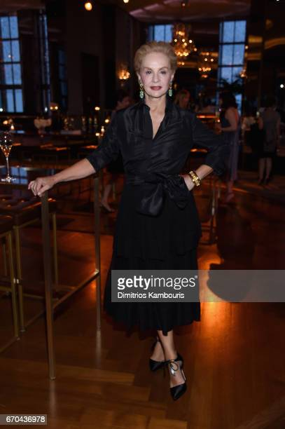 Carolina Herrera attends Harper's BAZAAR 150th Anniversary Event presented with Tiffany Co at The Rainbow Room on April 19 2017 in New York City