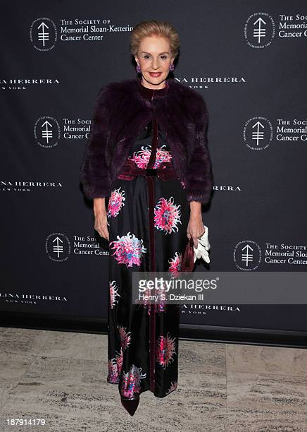 Carolina Herrera attends the 2013 Society Of Memorial SloanKettering Cancer Center Fall Party at the Four Seasons Restaurant on November 13 2013 in...