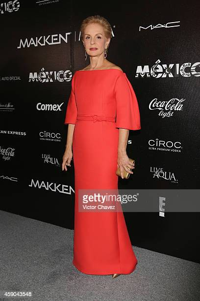 Carolina Herrera attends the Carolina Herrera presents House of Herrera gala at Universidad Del Claustro De Sor Juana on November 14 2014 in Mexico...