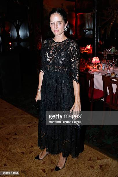 Carolina Herrera attends the Dinner in honor of the Artist Adrian Ghenie organized by Thaddaeus Ropac at Maxim's on October 22 2015 in Paris France