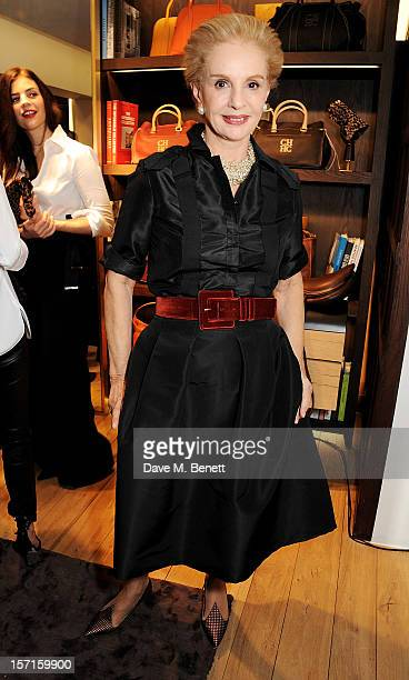 Carolina Herrera attends the launch of CH Carolina Herrera's White Shirt Collection at their new Fulham Road store on November 29 2012 in London...