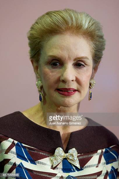Carolina Herrera attends Vanity Fair cocktail party at Museum Thyssen on October 20 2014 in Madrid Spain