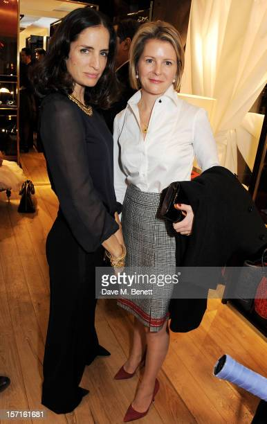 Carolina Herrera Baez and Viscountess Serena Linley attend the launch of CH Carolina Herrera's White Shirt Collection at their new Fulham Road store...