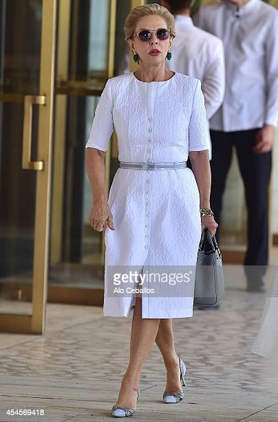 Carolina Herrera is seen in Midtown on September 3 2014 in New York City