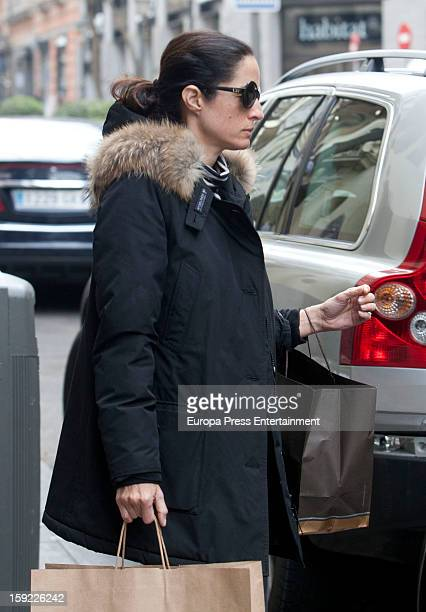 Carolina Herrera's daughter Carolina Adriana Herrera is seen on January 9 2013 in Madrid Spain