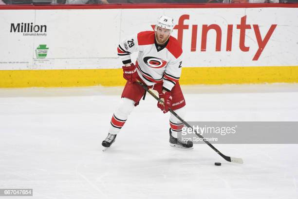 Carolina Hurricanes Left Wing Bryan Bickell looks to pass during a National Hockey League game between the Carolina Hurricanes and the Philadelphia...