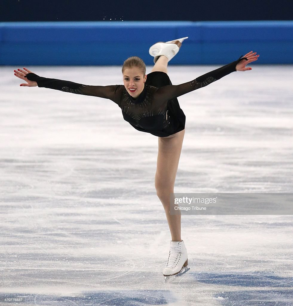 Carolina Kostner of Italy after performing in the ladies' figure skating free skate at the Iceberg Skating Palace during the Winter Olympics in Sochi, Russia, Thursday, Feb. 20, 2014.