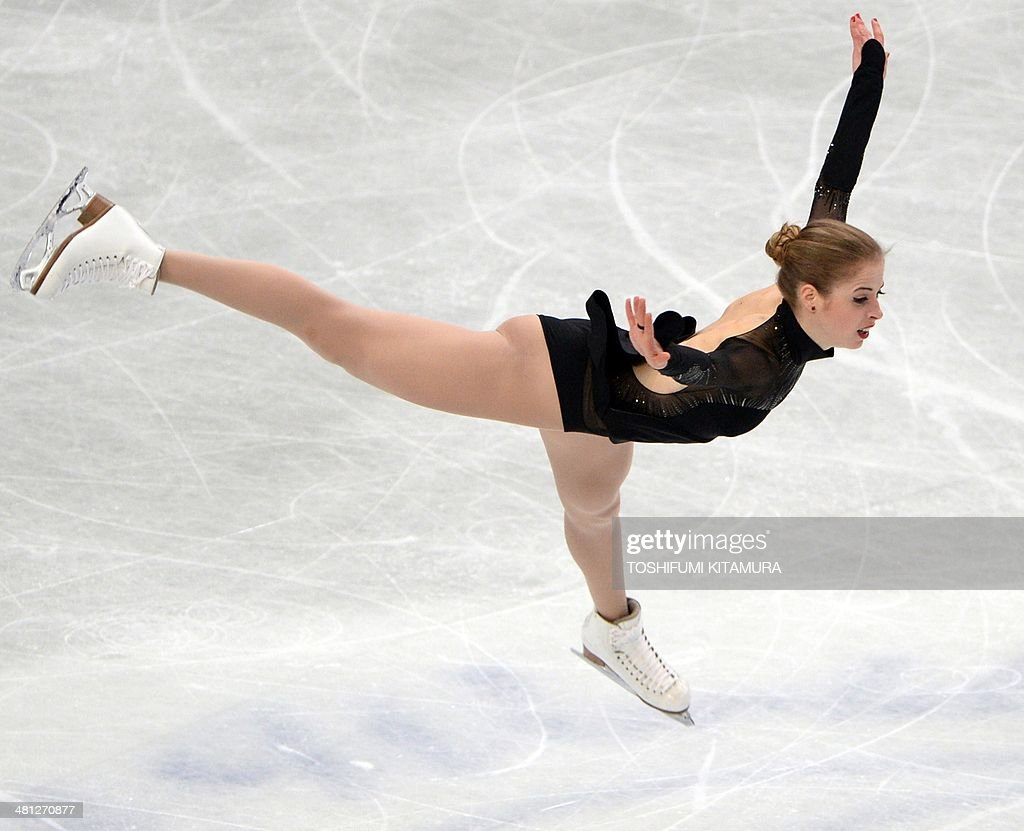 Carolina Kostner of Italy performs during her women's singles free skating event at the world figure skating championships in Saitama on March 29, 2014.