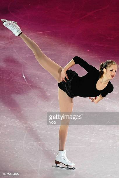 Carolina Kostner of Italy performs during ISU Grand Prix and Junior Grand Prix Final at Beijing Capital Gymnasium on December 12 2010 in Beijing China