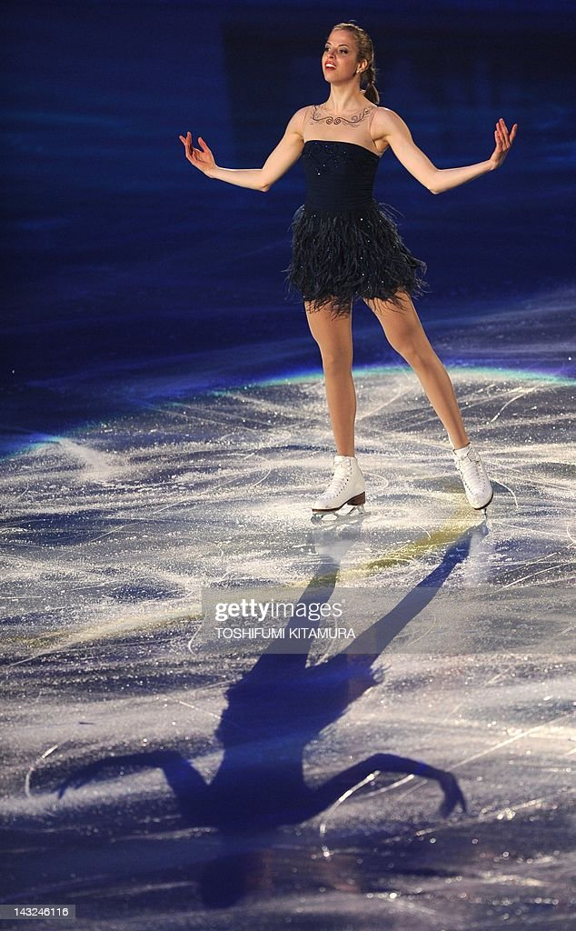 Carolina Kostner of Italy performs during the exhibition event in the World Team Trophy 2012 figure skating competition in Tokyo on April 22, 2012.