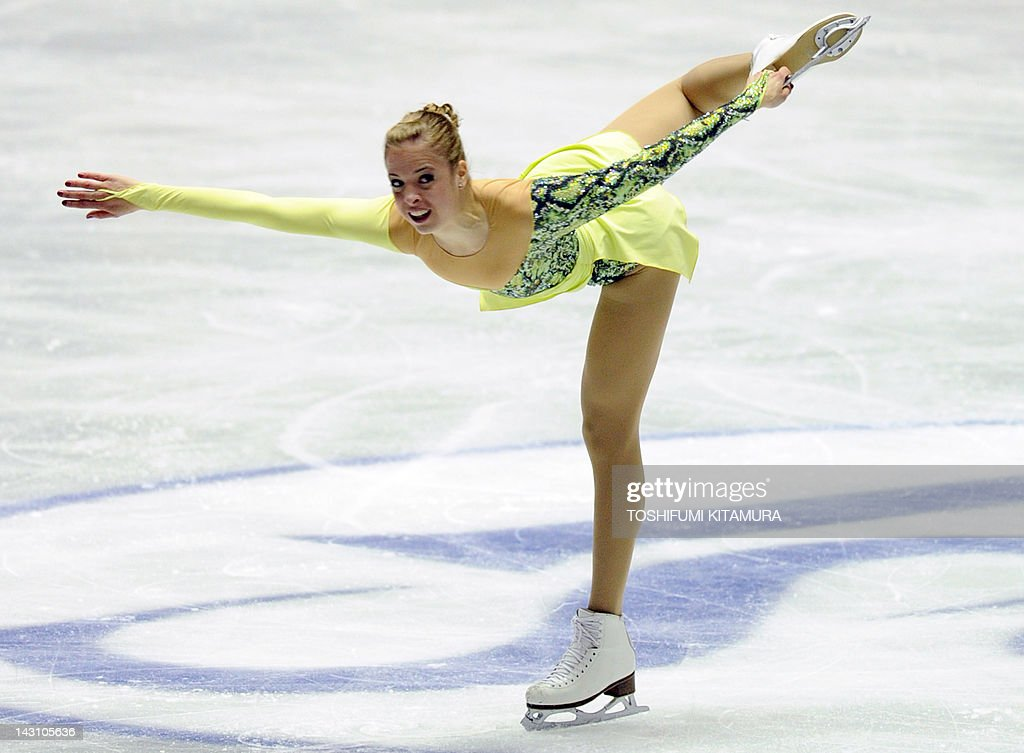 Carolina Kostner of Italy performs during the ladies short program event of the World Team Trophy 2012 figure skating competition in Tokyo on April 19, 2012. Kostner got the ladies short program top score of 69.48 points.