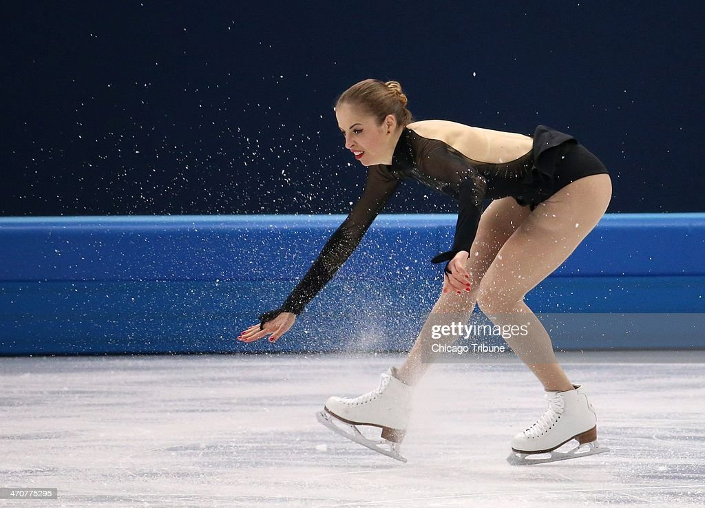 Carolina Kostner of Italy performs in the ladies' figure skating free skate at the Iceberg Skating Palace during the Winter Olympics in Sochi, Russia, Thursday, Feb. 20, 2014.