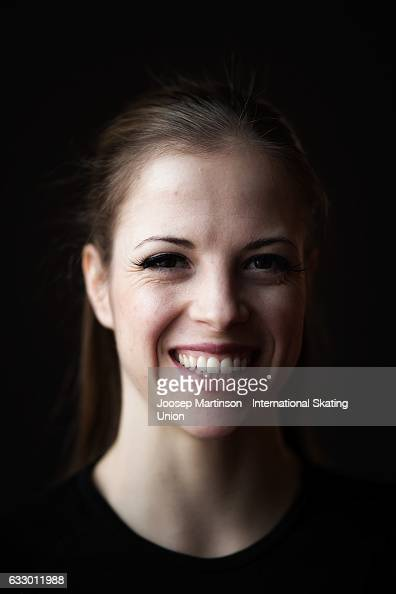 Carolina Kostner of Italy poses for a portrait during day 5 of the European Figure Skating Championships at Ostravar Arena on January 29 2017 in...