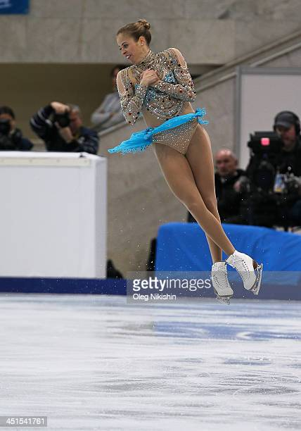Carolina Kostner of Italy skates in the Ladies Free Skating during ISU Rostelecom Cup of Figure Skating 2013 on November 23 2013 in Moscow Russia