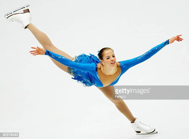 Carolina Kostner of Italy skates in the Ladies Free Skating during the Cup of China ISU Grand Prix of Figure Skating 2009 at Beijing Capital...
