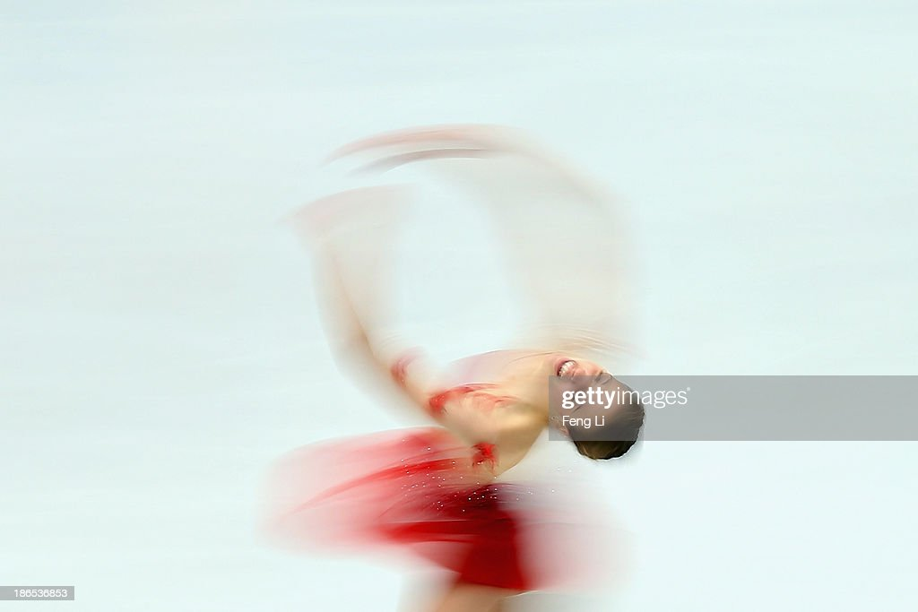<a gi-track='captionPersonalityLinkClicked' href=/galleries/search?phrase=Carolina+Kostner&family=editorial&specificpeople=729836 ng-click='$event.stopPropagation()'>Carolina Kostner</a> of Italy skates in the Ladies Short Program during Lexus Cup of China ISU Grand Prix of Figure Skating 2013 at Beijing Capital Gymnasium on November 1, 2013 in Beijing, China.