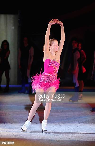 Carolina Kostner performs during 'Winx On Ice' on April 17 2010 in Milan Italy