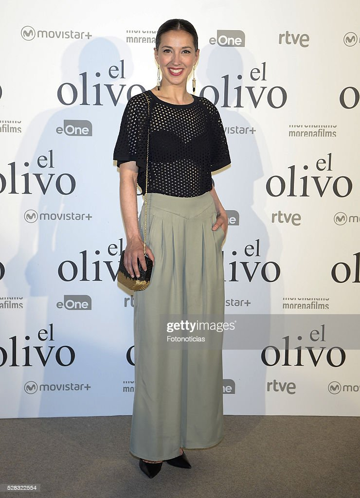 Carolina Lapausa attends the premiere of 'El Olivo' at the Capitol cinema on May 4, 2016 in Madrid, Spain.