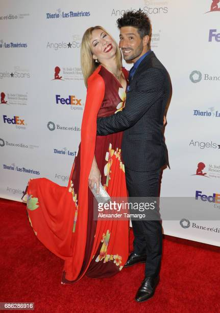 Carolina Laursen and David Chocarro are seen arriving at St Jude Gala on May 20 2017 in Miami Florida
