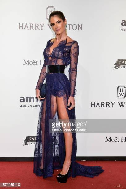 Carolina Magalhaes attends the 7th Annual amfAR Inspiration Gala on April 27 2017 in Sao Paulo Brazil
