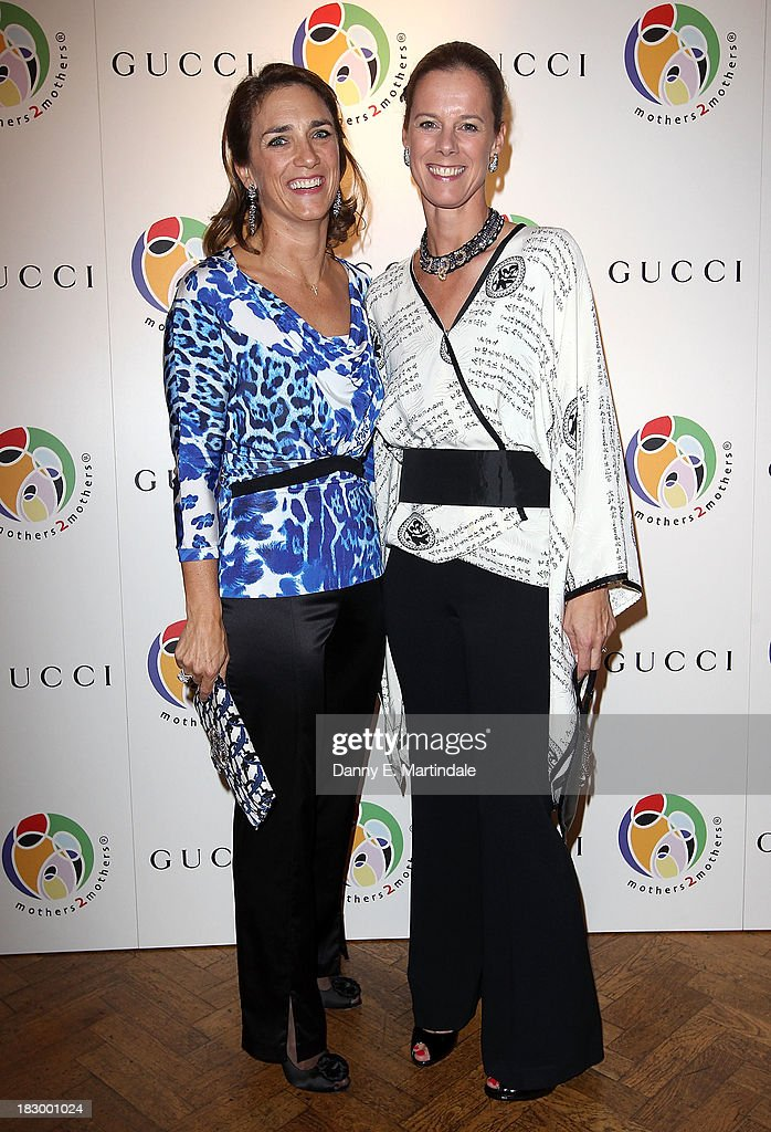 Carolina Manhusen Schwab and Maartje Skare-Hessels attend the mothers2mothers cocktail party to celebrate reaching one million mothers in partnership with GUCCI at One Marylebone on October 3, 2013 in London, England.