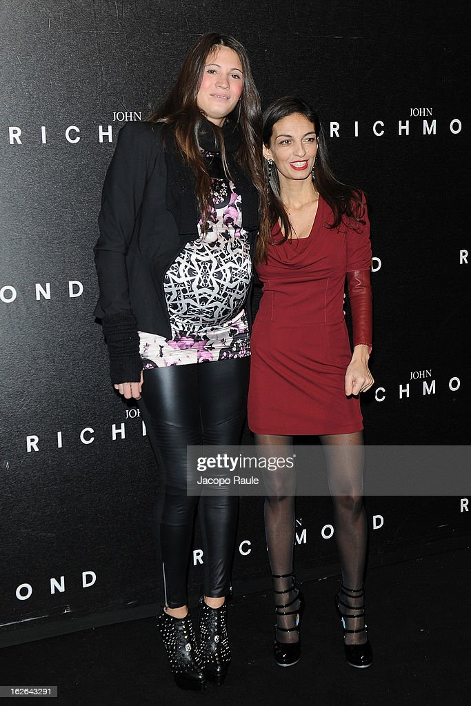 Carolina Marcialis and <a gi-track='captionPersonalityLinkClicked' href=/galleries/search?phrase=Alessandra+Moschillo&family=editorial&specificpeople=4818433 ng-click='$event.stopPropagation()'>Alessandra Moschillo</a> attend the John Richmond fashion show as part of Milan Fashion Week Womenswear Fall/Winter 2013/14 on February 25, 2014 in Milan, Italy.