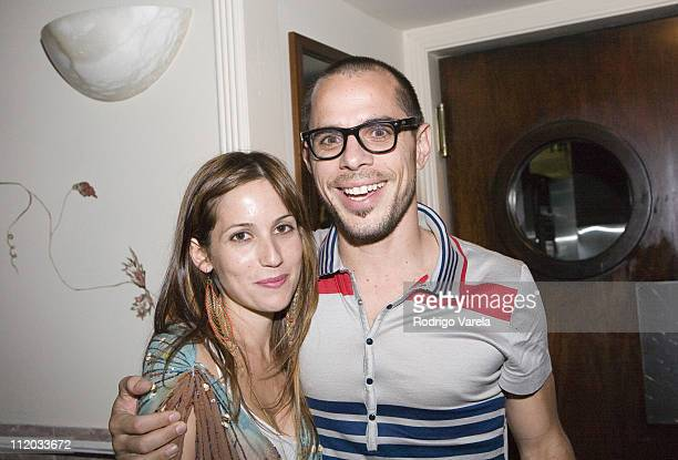 Carolina Murciano and Javier Garcia during 'The Lost City' Friends and Family at Oriente at Cardozo Hotel in Miami Beach Florida United States