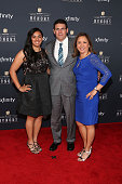 Carolina Panthers coach Ron Rivera and family attend the 2015 NFL Honors at Phoenix Convention Center on January 31 2015 in Phoenix Arizona
