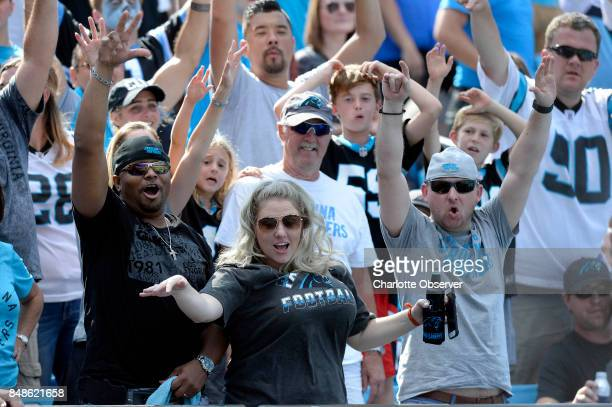 Carolina Panthers fans cheer for the team in the second half against the Buffalo Bills on Sunday Sept 17 2017 at Bank of America Stadium in Charlotte...