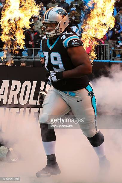 Carolina Panthers guard Chris Scott during the game between the Carolina Panthers and the San Diego Chargers on December 11 2016 at Bank of America...