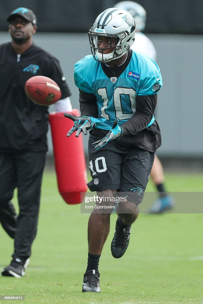 Carolina Panthers wide receiver Curtis Samuel (10) during the Carolina Panthers Mini Camp held on June 15, 2017 held at Carolina Panthers Training Facility in Charlotte, NC.