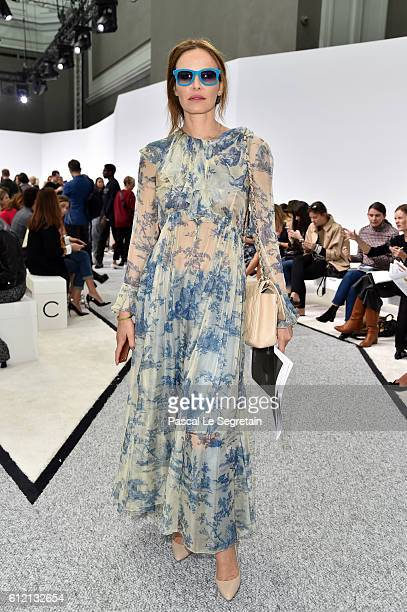 Carolina Parsons attends the Giambattista Valli show as part of the Paris Fashion Week Womenswear Spring/Summer 2017 on October 3 2016 in Paris France