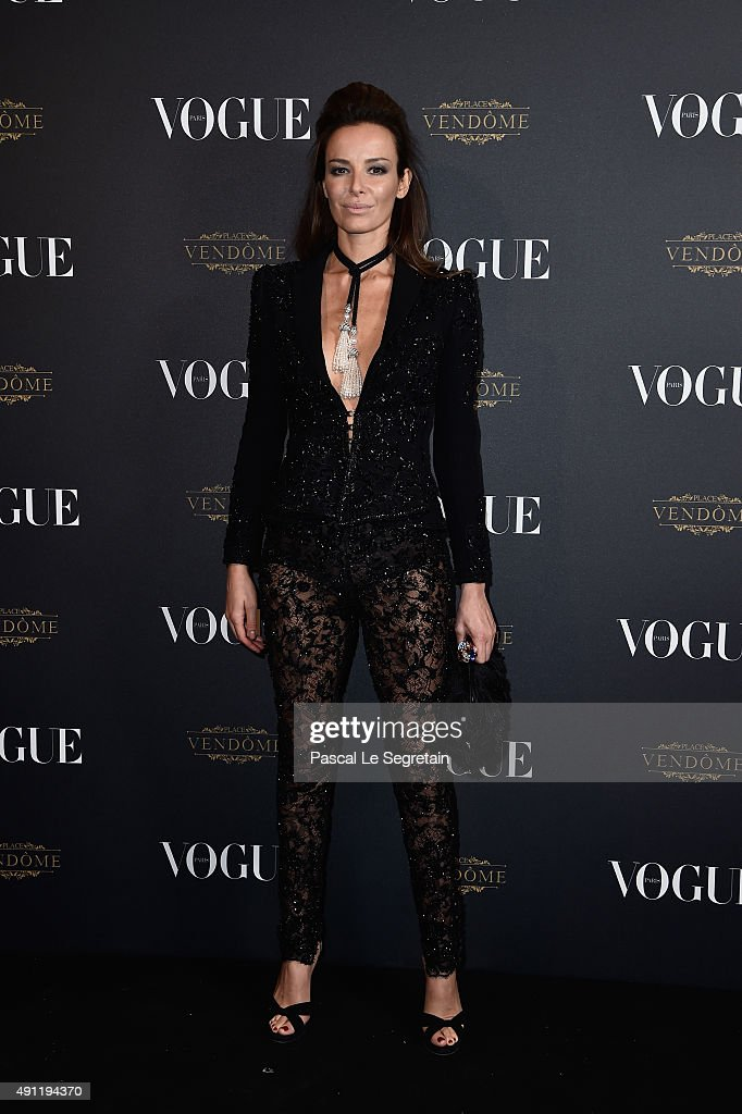 Carolina Parsons attends the Vogue 95th Anniversary Party on October 3, 2015 in Paris, France.