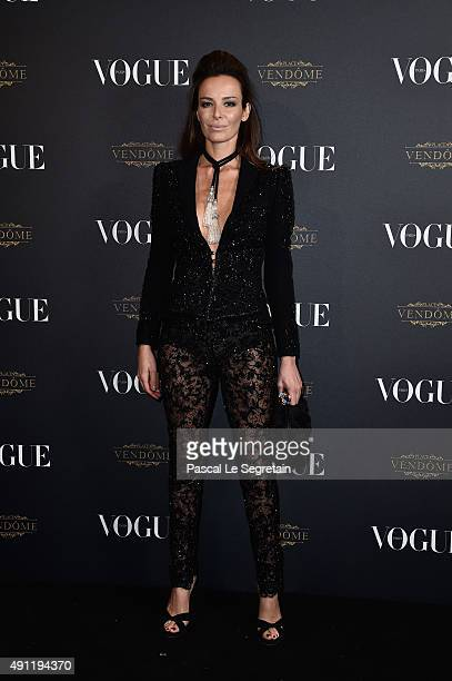 Carolina Parsons attends the Vogue 95th Anniversary Party on October 3 2015 in Paris France