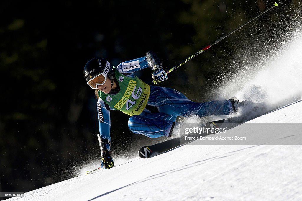 Carolina Ruiz Castillo of Spain competes during the Audi FIS Alpine Ski World Cup Women's Giant Slalom on November 24, 2012 in Aspen, Colorado.