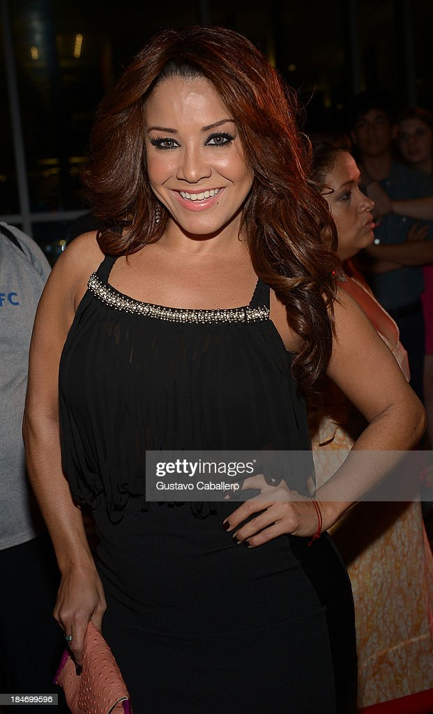 Carolina Sandoval arrives for the premiere of 'The Snitch Cartel' at Regal South Beach on October 14, 2013 in Miami, Florida.