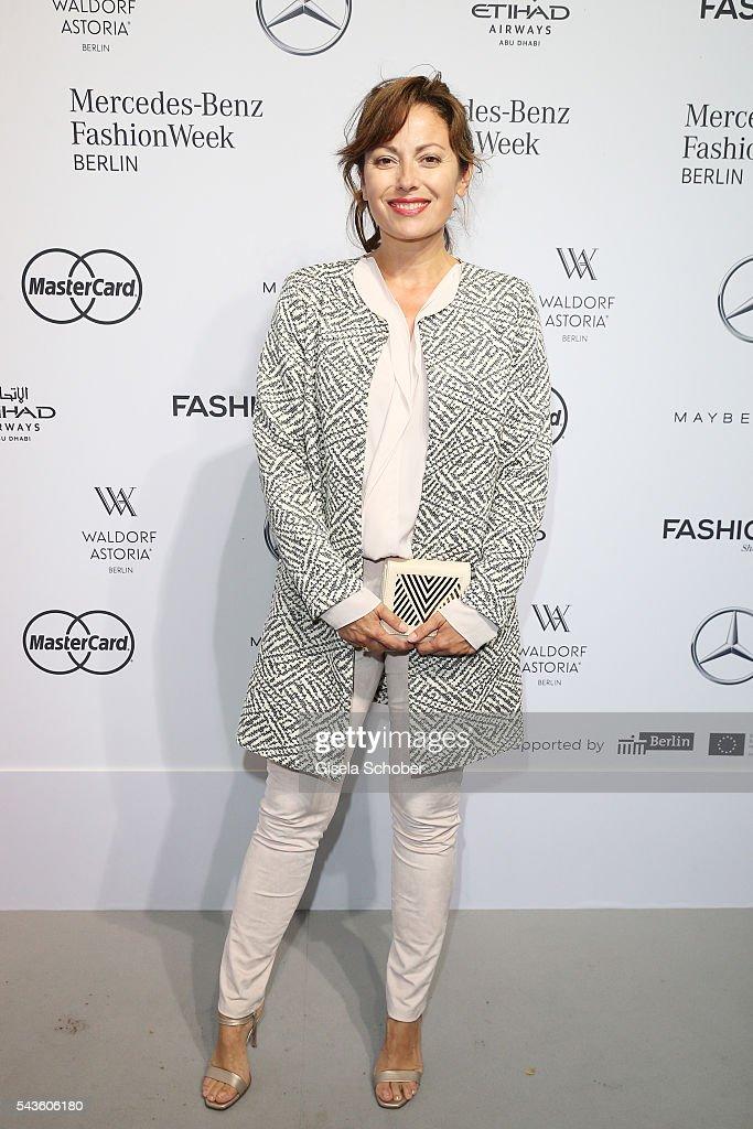 Carolina Vera attends the Minx by Eva Lutz show during the MercedesBenz Fashion Week Berlin Spring/Summer 2017 at Erika Hess Eisstadion on June 29...