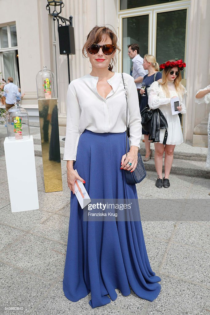 Carolina Vera attends the presentation of the Rauch Happy Day Limited Edition designed by Marina Hoermanseder ahead of the Marina Hoermanseder defilee during the Der Berliner Mode Salon Spring/Summer 2017 at Kronprinzenpalais on June 30, 2016 in Berlin, Germany.
