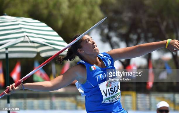 Carolina Visca in action during European Athletics U20 Championships on July 20 2017 in Grosseto Italy