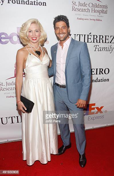 CarolinaLaursen and David Chocarro attend the St Jude Angels and Stars Gala at JW Marriott Marquis on May 17 2014 in Miami Florida