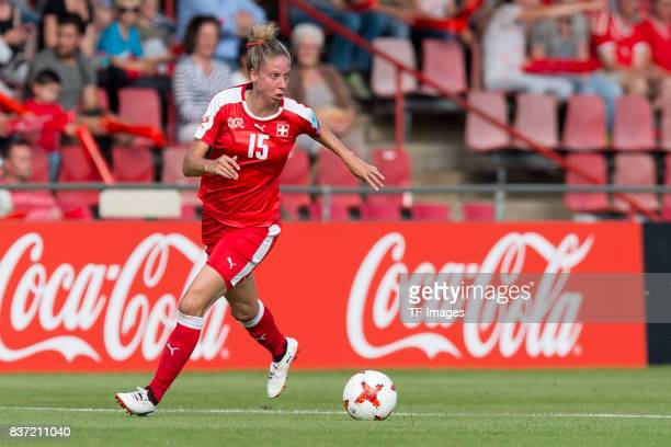 Caroline Abbe of Switzerland controls the ball during the Group C match between Austria and Switzerland during the UEFA Women's Euro 2017 at Stadion...