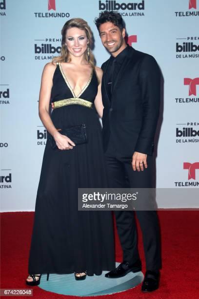 Caroline and David Chocarro attends the Billboard Latin Music Awards at Watsco Center on April 27 2017 in Coral Gables Florida