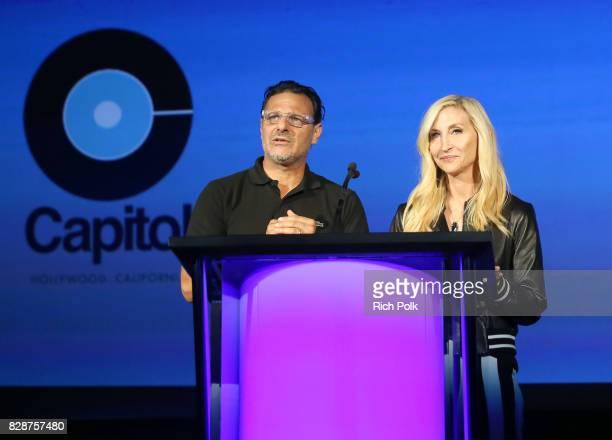 Caroline and Harvest Records CoGeneral Manager Piero Giramonti and Caroline and Harvest Records CoGeneral Manager Jacqueline Saturn speak onstage...