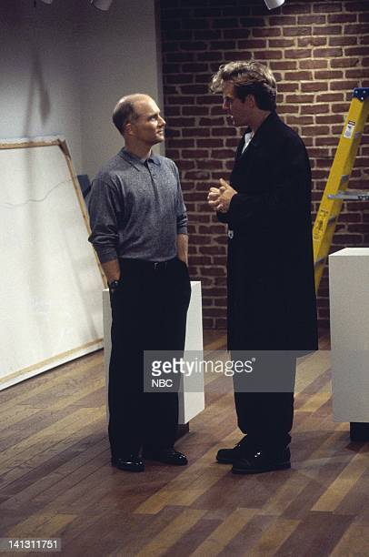 CITY 'Caroline and the Gay Art Show' Episode 3 Aired 10/5/95 Pictured Dan Butler as Kenneth Arabian Malcolm Gets as Richard Karinsky Photo by Mike...