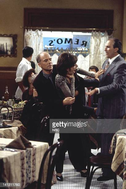 CITY 'Caroline and the Gay Art Show' Episode 3 Aired 10/5/95 Pictured Dan Butler as Kenneth Arabian Amy Pietz as Annie Viola Spadaro Photo by Mike...