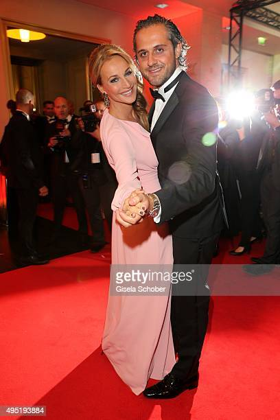 Caroline Beil and her partner Philipp Sattler during the Leipzig Opera Ball 2015 on October 31 2015 in Leipzig Germany