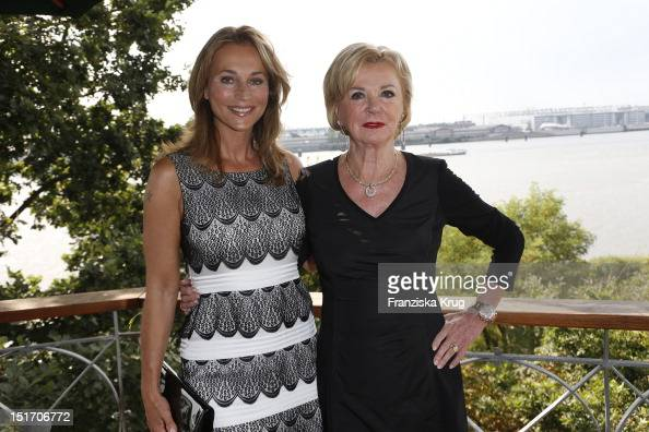 Caroline Beil and Liz Mohn attend the Ladies Lunch in aid of the German Stroke Foundation at Hotel Louis C Jacob on September 10 2012 in Hamburg...