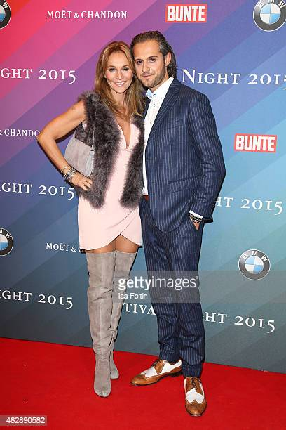Caroline Beil and Philpp Sattler attend the Bunte BMW Festival Night 2015 on February 06 2015 in Berlin Germany